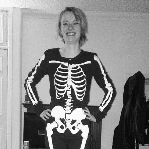 Not gonna lie, my boyfriend is pretty awesome. #onesie #skeleton #topman #me #instadaily