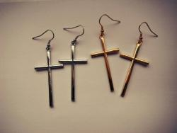 Big Cross Earrings, just in, only £3 http://wavyjewellery.co.uk