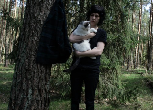 me and my little fat baby Paul in my forest