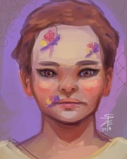 I dreamed I had flowers tattooed all over my face… #spaeart http://ift.tt/2CPR4tc