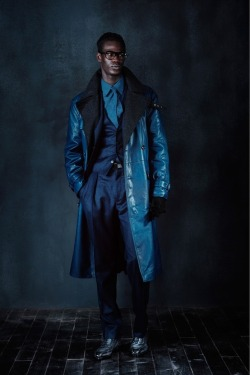 themodeclectic:  berluti - fall 2013 menswear: blue blue electric blue