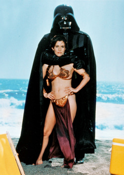 "vintagegal:  vintagegal:   Rolling Stone ""Star Wars Goes On Vacation"" photo shoot promoting ""Return Of The Jedi"" in 1983.  Happy Star Wars Day"