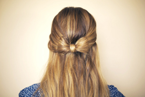 Looking for a creative new hairstyle?… Learn how to create a 'hair bow'!