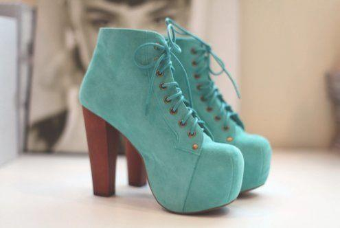 #blue #shoes #high #heels
