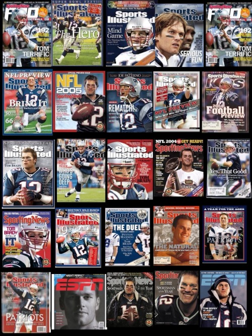patspropaganda:  Wow, that's a lot of Brady covers…