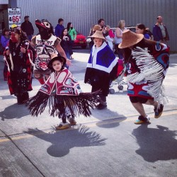 planetalaska:  Dancing in honor of the ancestors and the future generations. Shakes Island parade in Wrangell Alaska. #alaska #tribal #wrangell #shakesisland #Tlingit #haida #tsimshian #culture