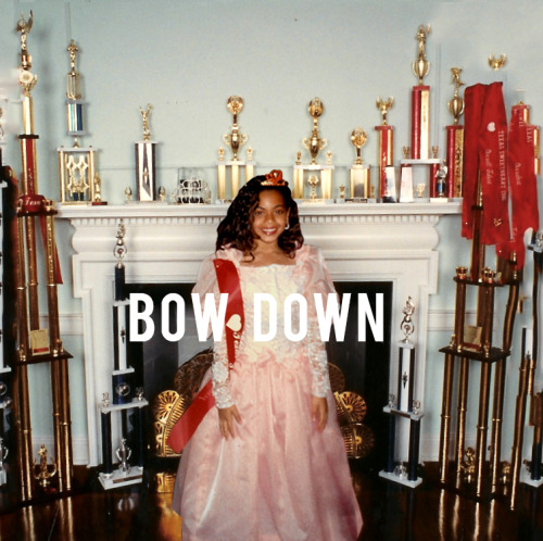 beyonce:    You've seen it. Reblogging for posterity. Love the screwed-down raps, Beyonce as Houston's preeminent drag king. I hope the video includes little to no movement, just Beyonce in a chair, not even curling her lip, casually singing, like the calmest boardroom ceo in America. Bow. Down. Bitches. [cut to nail-filing shot]
