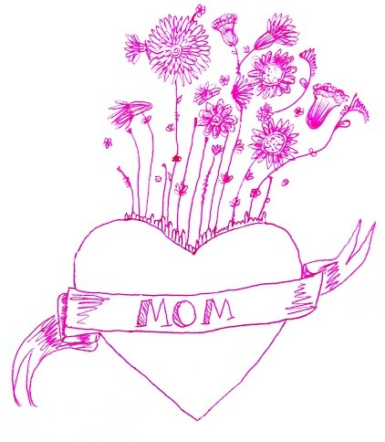I drew this for my mommy's card