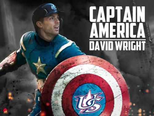 oldtimefamilybaseball:  Tonight, with his vibranium bat in hand, David Wright continued his hot streak in the WBC with two hits and 5 RBI. He's now driven in 9 of the USA's 24 runs in the tournament.  And while the stars and stripes may seem a little old fashioned, as a great man once said, people might just need a little old fashioned. Also, David Wright's tongue. Sadly, the Netherlands lost to Japan (though that was just to determine final seeding) and Italy lost a tight game with the Dominican Republic forcing the upstart Italian club into an elimination game with Puerto Rico tomorrow night.  (image by the grand Jay Tuohey/@TheRoar_24)  David Wright.