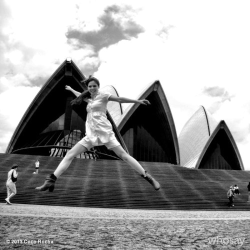 #throwbackthursday - one of my very first blog post photos outside the Sydney Opera House, 5 years ago! Full circle.  View more Coco Rocha on WhoSay