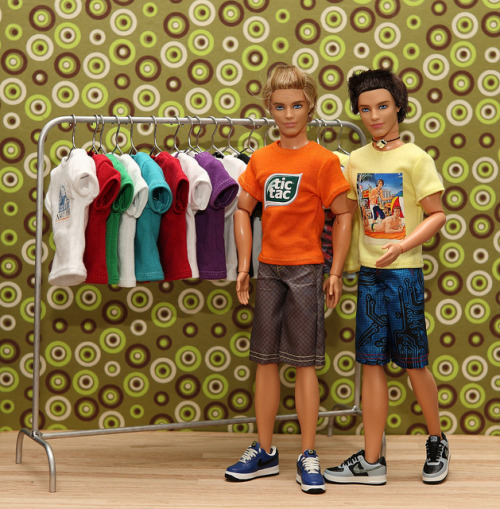Sweet T's by FashionistaKen on Flickr. Custom Ken doll T shirts made by Hegemony77