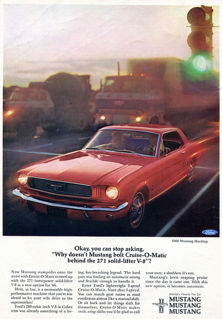 1966 Ford Mustang Hardtop Advertising Car and Driver Magazine January 1966 by SenseiAlan on Flickr.1966 Ford Mustang Hardtop Advertising Car and Driver Magazine January 1966