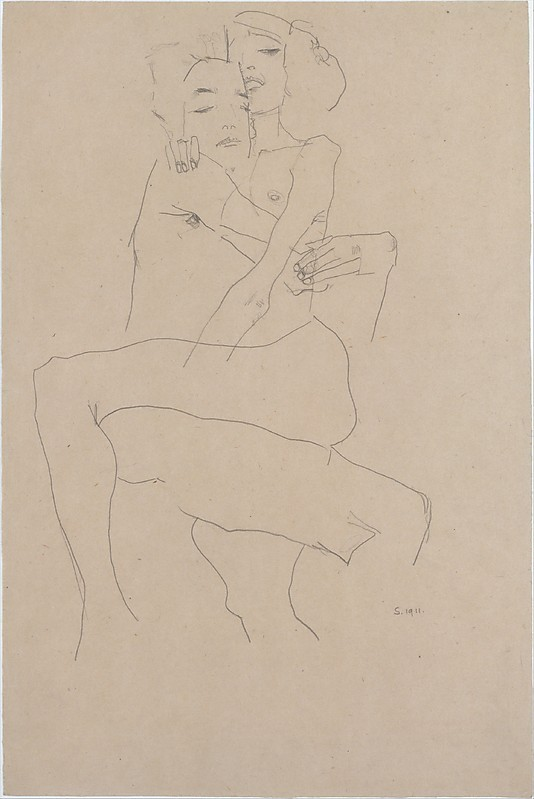nevver:  Couple embracing, Egon Schiele