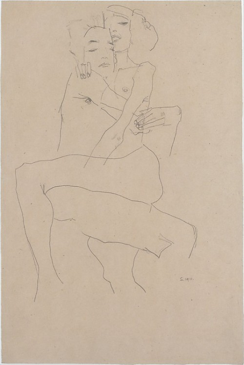 fallere:  Egon Schiele - Couple Embracing