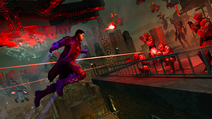 Saints Row 4 gameplay shows off robots, insane weapons and superpowers Here's the first ever gameplay footage from Saints Row 4 shown off at PAX East including commentary from senior producer Jim Boone. The footage includes some crazy weapons, awesome looking robots and cool superpowers. It's shaping up to be a hugely entertaining experience. Watch it here.