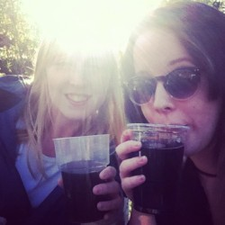 Jack and coke in the sun with dear darling Nomi!