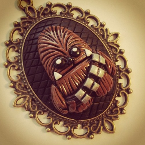 Cameo Chewbacca now available! #polymerclay #fashion #starwars #wookiee #chewbacca