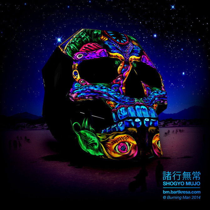 (via A 30-Foot Skull Will Ignite Burning Man In A Blaze Of Projection Mapped Glory | The Creators Project)