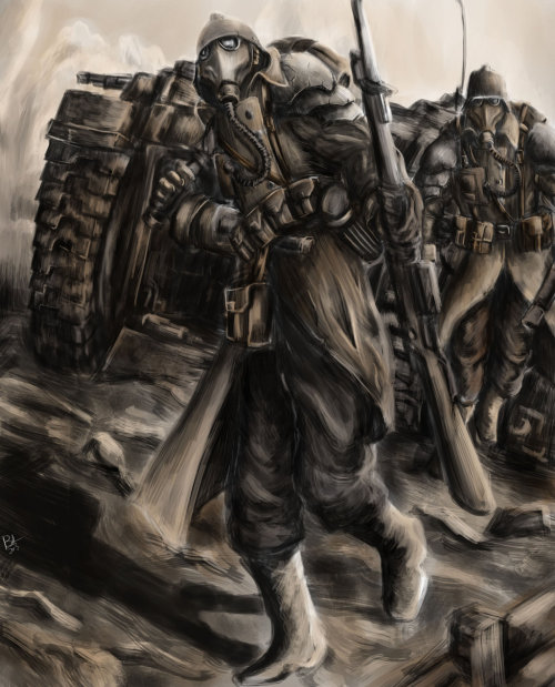 gorecoveredrampager:  Krieg Troopers by *WannaTryMe1138  Death Korps of Krieg
