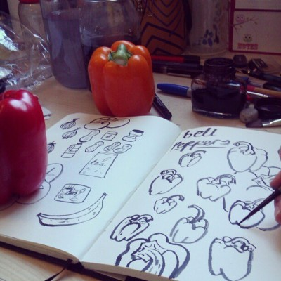 Bell peppers are really awkward for me to draw… I need a training montage!