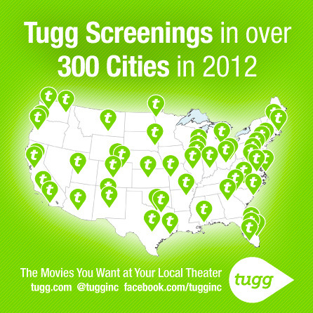 Wow, we've had screenings in over 300 cities across the country! Is your city next? YOU decide: tugg.com