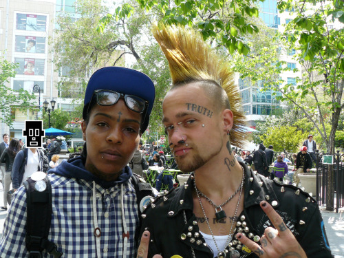 Punk and Skinhead, Union Square.  NYC.