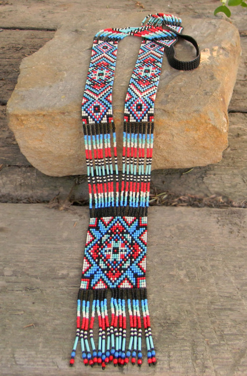 Colorful Ethnic Long Beaded Necklace https://www.etsy.com/listing/150633076/colorful-ethnic-long-beaded-necklace#