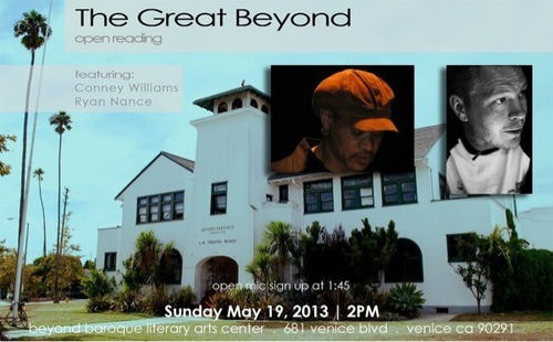 Sunday 2 pm for The Great Beyond @ Beyond Baroque http://bit.ly/13xcDBg