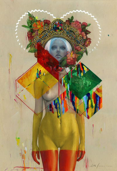 "(via store.spoke-art.com) Upcoming Print Release: Erik Jones - ""Dipped Queen"" August 2013"
