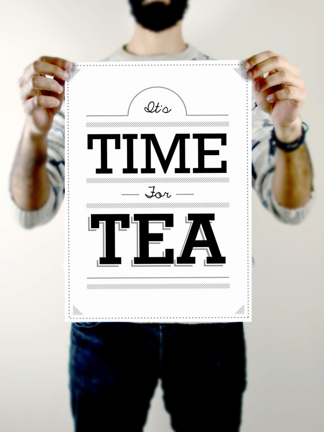 "A3Typographic Poster.""Time for Tea""£20.00Inspired by a rather lovely hot drink.This print is now available as A3 on 100gsm.TORSO VERTICAL SHOPAvnish Panesar,www.torsovertical.com"
