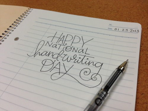 wellappointeddesk:  Happy National Handwriting Day! View Post shared via WordPress.com