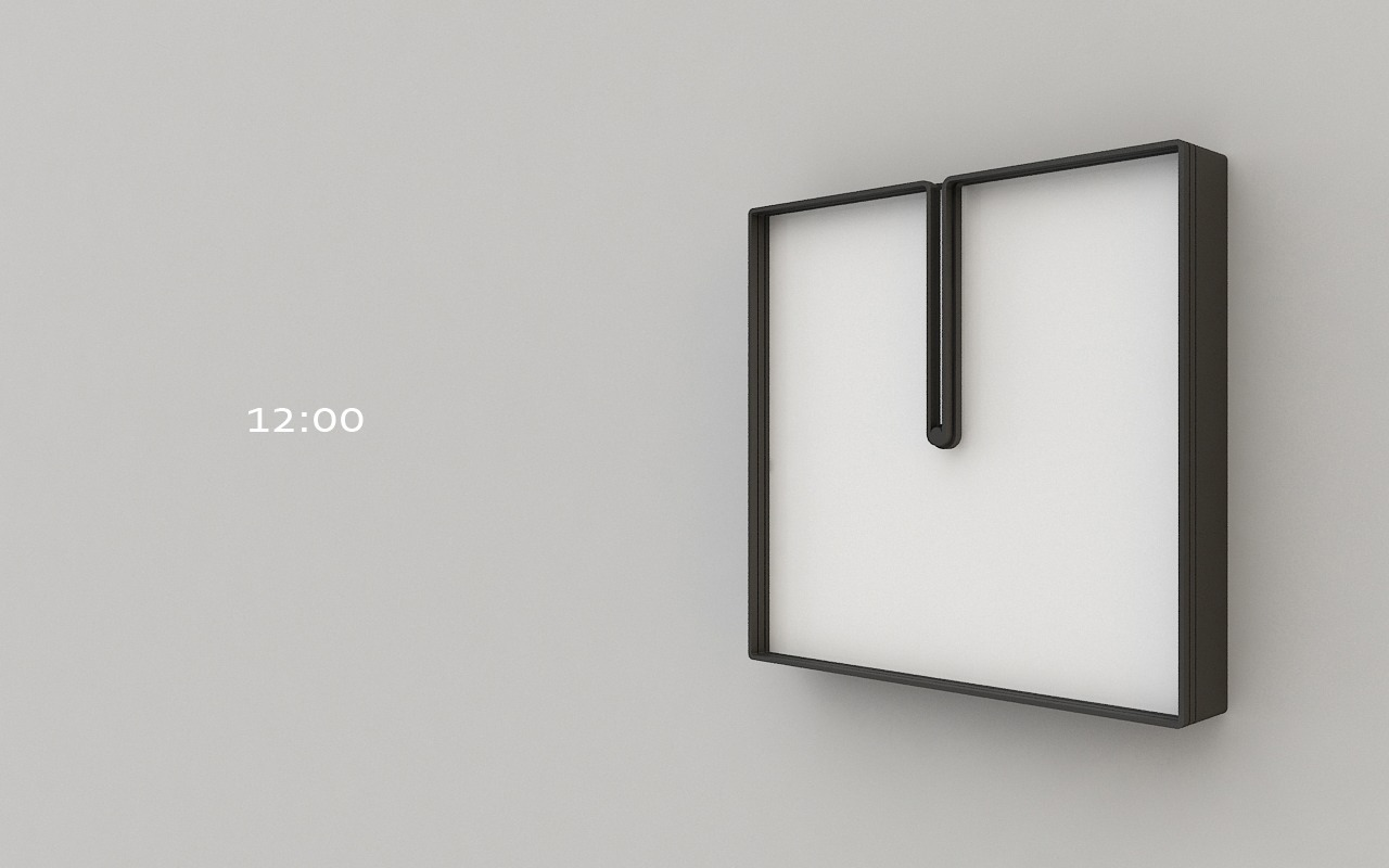 "egedesign:  ""Frame""Design by Nazar Şigaher from İstanbul The hour and minute hands of Frame have frames made of material identical to that of hour and minute hands. The clock constantly changes its form as the hour and minute hands keep moving and take a given form twice a day only. Such constant change of form created by moving hour and minute hands give this clock a peculiarity that identifies with the concept of time."