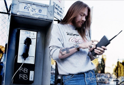 axlfetish:  Axl Rose, and giant phone. 1988 ;)