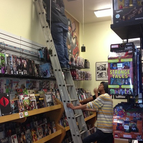 Late night work at #cfa #bestcomicstoreever #comicshop #comicstore  (at Comic & Figure Addicts)