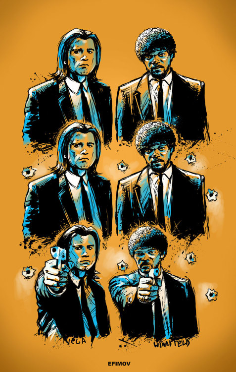 fuckyeahmovieposters:  Pulp Fiction by Ivan Efimov
