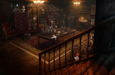 Steampunk Hidden Laboratory by Vlad_MRK