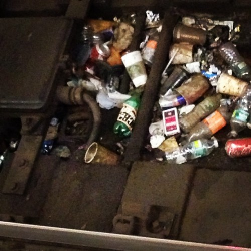 alexscordelis:  UCB Comedy sticker on an empty Sprite bottle in a subway-tracks trash pile. #UCBpride  This is beautiful and poetic.