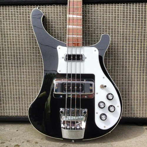 ourheatisgospel:  Just in! Rickenbacker 4003 in inky Jetglo! #guitar #bass #rickenbacker #black #ric #sale