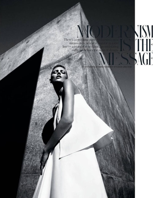 """Modernism is the Message"" (+) T Magazine, Spring 2013 photographer: Mario Sorrenti Anja Rubik"