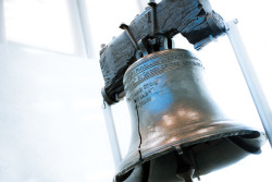 LIBERTY BELL Located in Philadelphia, The Liberty Bell is an iconic symbol of American independence. You can see the Bell at The Liberty Bell Center, an expansive, light-filled Center with larger-than-life historic documents and graphic images that allow you to explore the facts and the myths surrounding the Bell. Other exhibits show how the Bell's image was used on everything from ice cream molds to wind chimes. Keep your camera handy. Soaring glass walls offer dramatic and powerful views of both the Liberty Bell and Independence Hall, just a few steps away.