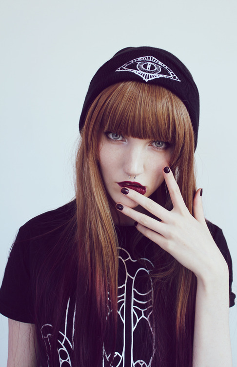 We totally love the bangs on this gal! Looks like she may have some ombre going on too!