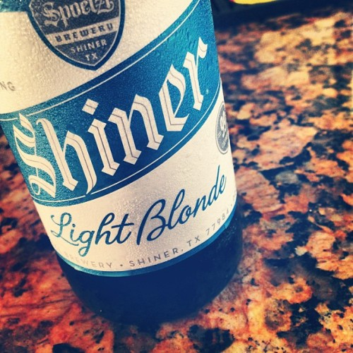 Post run beer @ShinerBeer (at Oak Forest Chill)