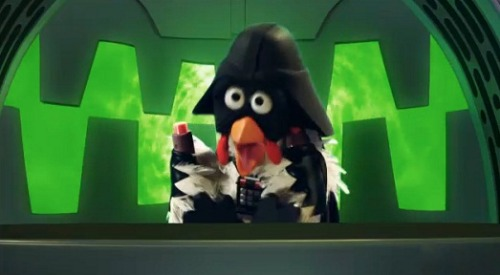 sesamestreet:  Sesame Street and Star Wars have been linked many times over the years. (Like the time R2 and Threepio visited!) Seriously. It's happens to much, we wrote a blog post all about it. Oh, and say hi to Darth Chicken.  May the 4th be with you.