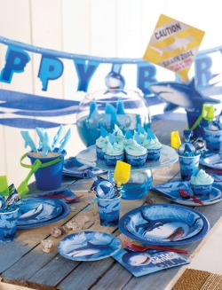 partypail:  A JAWsome party awaits with help from these shark party supplies!