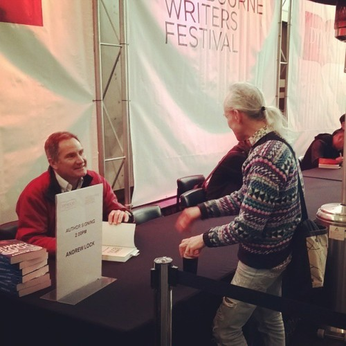 Author signings post session at MWF. Such an amazing storyteller - Andrew Lock is the first Australian to climb all 14 of the world's 8000m mountains and man, his stories from those summits are incredible. #summit8000 #andrewlock # mwf #books #book #reading #mountainclimbing (at Melbourne Writers Festival)