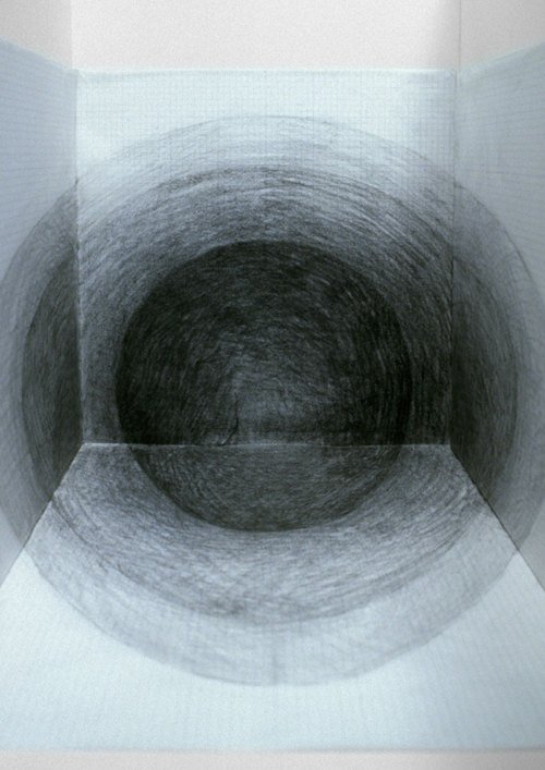 endthymes:  seongmin ahn, 'beyond – dark, hole 3' (2003); sumi ink on mulberry paper