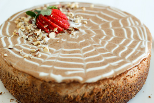 dailysugardose:  Chestnut Hazelnut Cheesecake