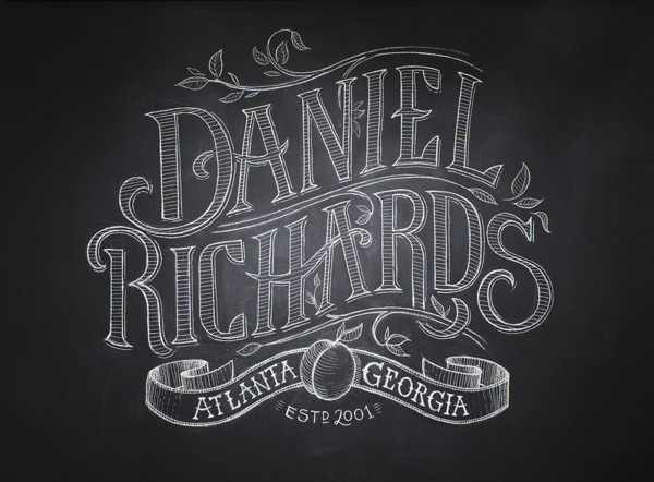 serialthrill:  Daniel Richards Chalk Lettering by Chris Yoon