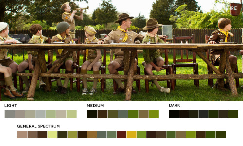 moviesincolor:  Wes Anderson WeekMoonrise Kingdom, 2012Cinematography: Robert D. Yeoman