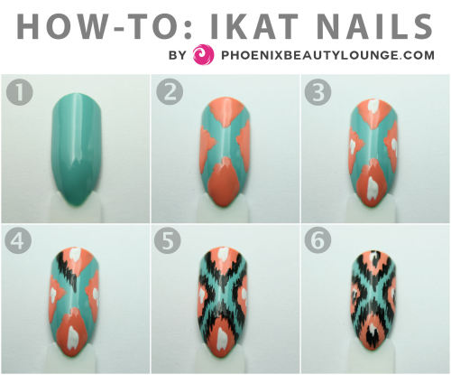 phoenixbeautylounge:  How-to: Ikat Nails by Phoenix Beauty Lounge. Head over to our blog for all the details and step-by-step instructions!